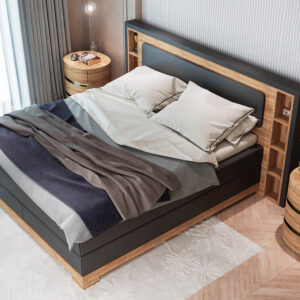 Premium Boxspringbett Nature III. Hochwertes Bett online kaufen