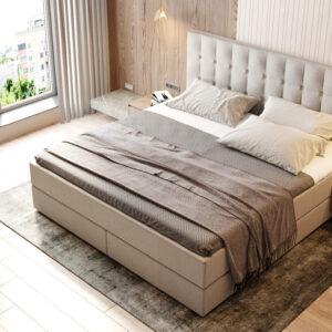 Boxspringbett Six. Weiß. Bett online kaufen
