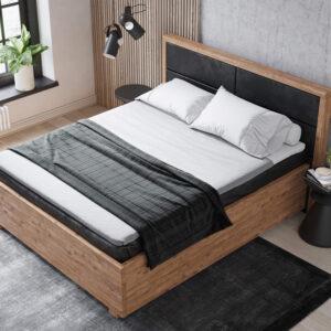 Premium Boxspringbett Nature I. Hochwertiges Bett aus Massivholz